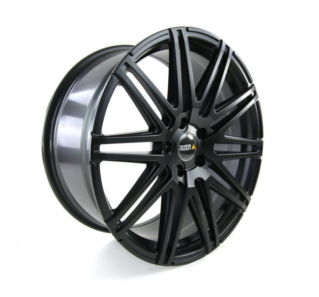 Twin-Monotube Felge 9x20 Zoll in seidenmatt schwarz, leicht konkav für VW T5 und T6