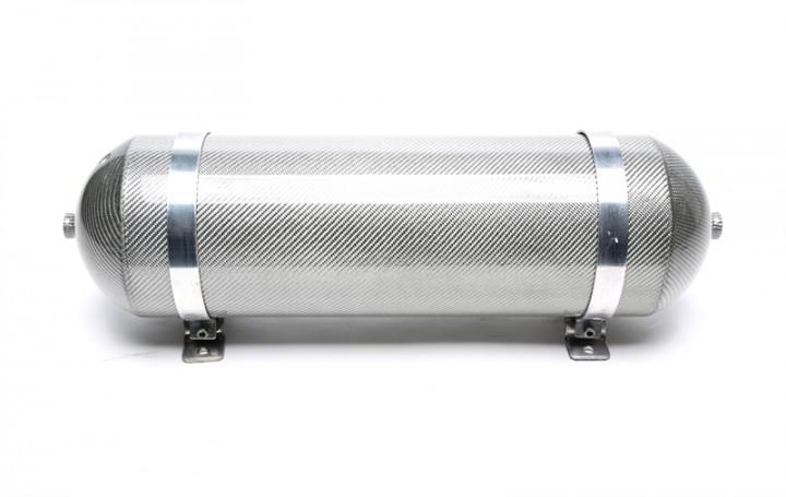TA Technix nahtloser Lufttank 11 Liter / Lufttank silber mit echt Carbon Furnier