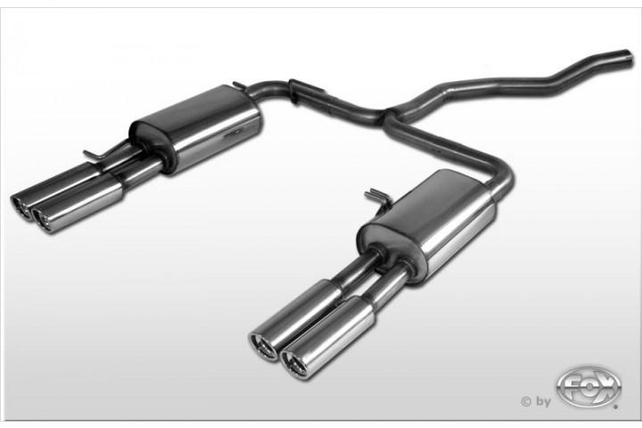 VW Bus T5 Endschalldämpfer Ausgang rechts/links - 2x80 Typ 13 rechts/links