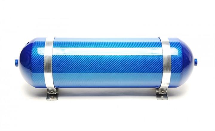 TA Technix nahtloser Lufttank 11 Liter / Lufttank blau mit echt Carbon Furnier