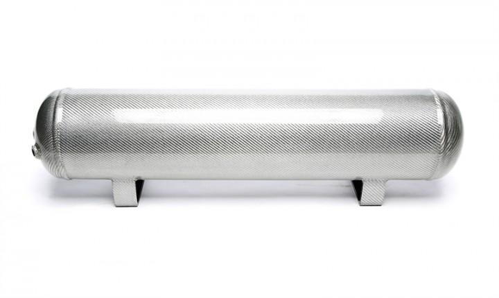 TA Technix Lufttank 19 Liter / Lufttank silber mit echt Carbon Furnier