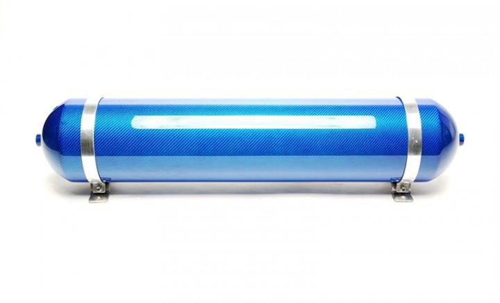TA Technix nahtloser Lufttank 19 Liter / Lufttank blau mit echt Carbon Furnier