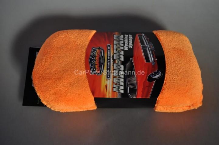 Surf City Garage Nano Detail Washing Sponge Waschschwamm orange