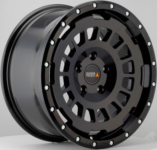 Twin Monotube Projekt Allterrain Felge 8x17 schwarz für VW T5 T6 T6.1