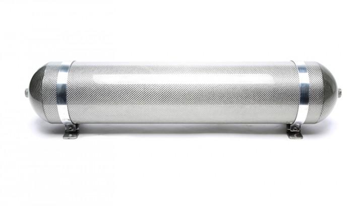 TA Technix nahtloser Lufttank 19 Liter / Lufttank silber mit echt Carbon Furnier